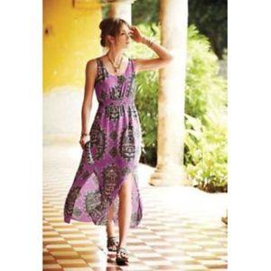 MAEVE Anthropologie Anna's Silk Mandala Maxi Dress